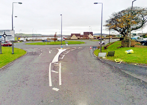 The roundabout that's due to be revamped in Guide