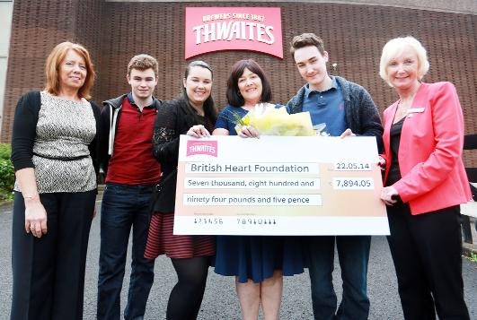Thwaites staff have raised thousands for the British Heart Foundation in memory of their former colleague Eamonn Kilbride