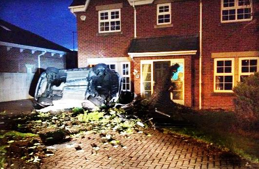 Stolen car crashed into Blackburn superbike champion's home