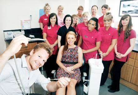 Dentist Mike Best and staff from award-winning dental practice Bateman and Best