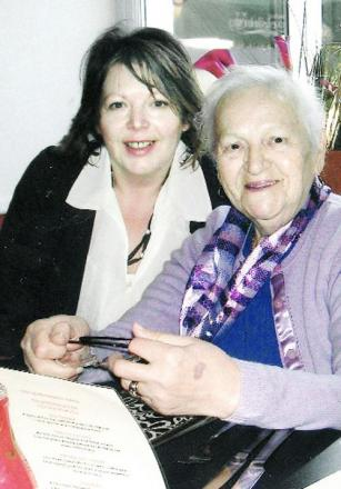 Sharon Kinlin-Martin with her mum Joan.
