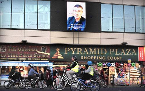 Blackpool illuminations pay tribute to East Lancs cyclist killed in hit and run