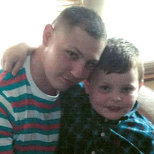 Dean Mayley pictured with his nephew Callum