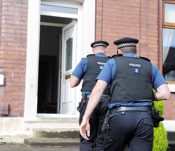 Police carried out a raid on a house in Whalley New Road at around 9.30am