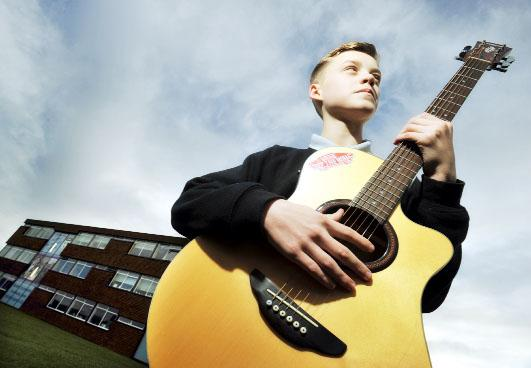 Musician Reece Bibby who was on the X Factor at the weekend has thanked his inspirational tutors