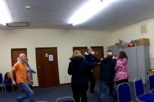 VIDEO: Watch as fight breaks out at meeting in row over sheep grazing rights