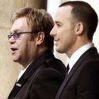 Blackburn Citizen: Sir Elton John (left) and David Furnish tied the knot in a civil partnership ceremony in 2005
