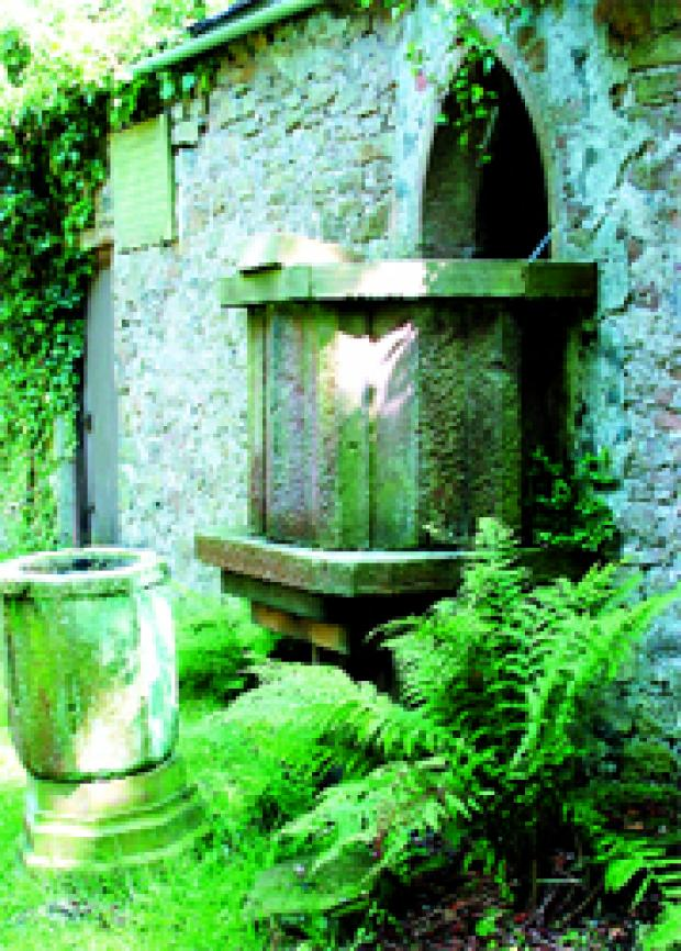 WORSHIP: The outdoor pulpit at St Stephen's Church